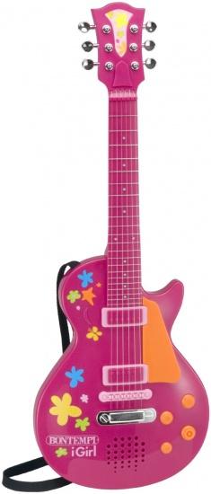 Bontempi Elektrische I Girl Rock gitaar roze