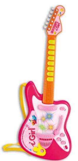 Bontempi Gitaar I Girl Elektrisch Rock Roze/Oranje