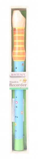 Bontempi houten blokfluit 34 cm blauw