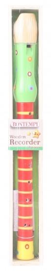 Bontempi houten blokfluit 34 cm rood