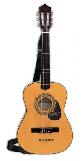 Bontempi houten gitaar met 6 snaren en schouderband 92 cm