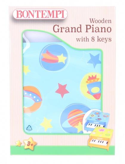 Bontempi houten piano acht toetsen blauw