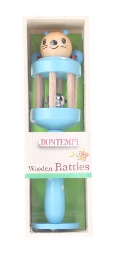 Bontempi houten rammelaar blauw