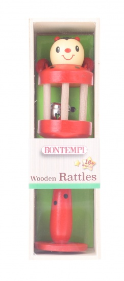 Bontempi houten rammelaar rood