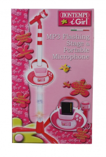 Bontempi iGirl MP3 flashing stage en microfoon roze
