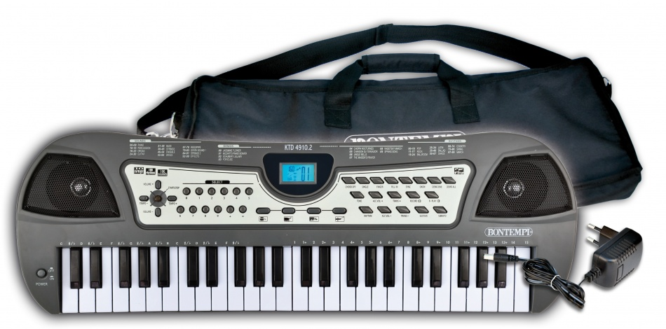 Bontempi Keyboard Digitaal 49 toetsen grijs 58,8 cm