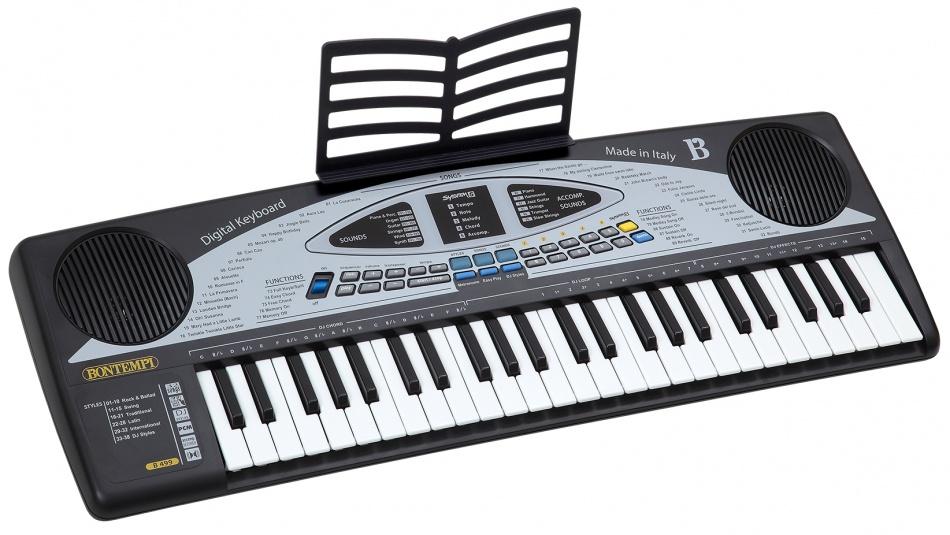 Bontempi Keyboard Digitaal 49 toetsen grijs 68 cm