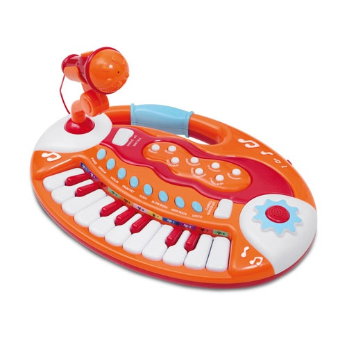 Bontempi Keyboard met Microfoon Oranje/Rood