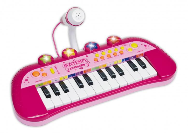 Bontempi Keyboard met Microfoon Roze
