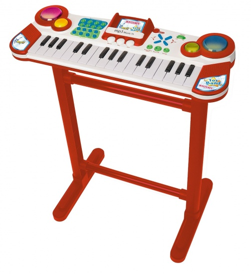Bontempi Keyboard Toy Band Staand met Microfoon Rood