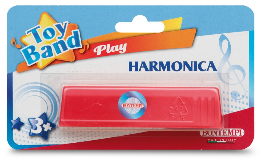 Mondharmonica Toy Band Rood