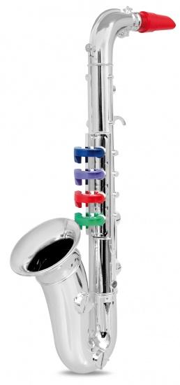 Bontempi Saxofoon 4 toetsen Zilver 37 cm