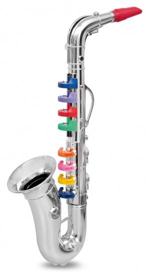 Bontempi Saxofoon 8 toetsen Zilver 42cm