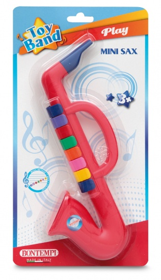 Bontempi Saxofoon Toy Band Rood