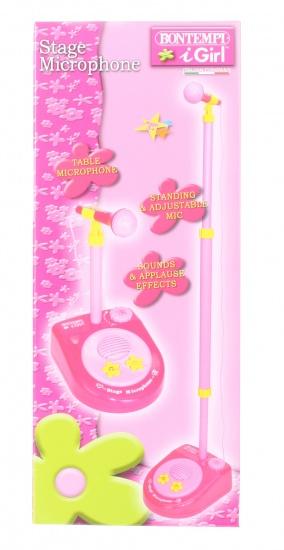Bontempi Stage microfoon roze