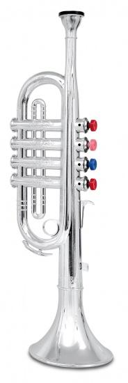 Bontempi Trompet 4 toetsen Zilver 37 cm