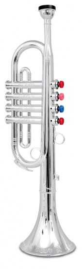 Bontempi Trompet 4 toetsen Zilver 42 cm
