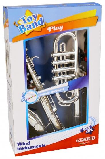 Bontempi Trompet en Saxofoon 4 toetsen Zilver 37 cm