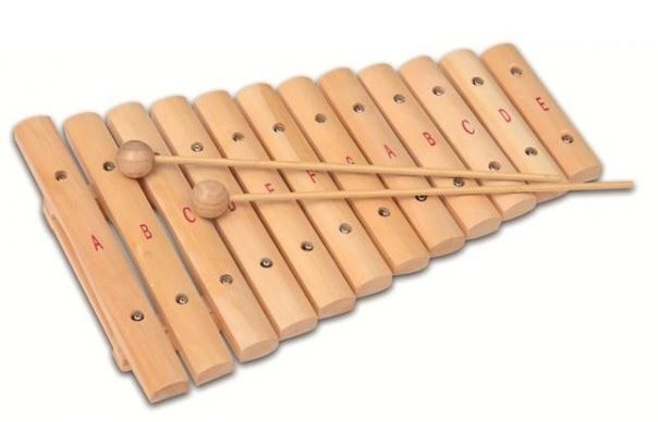 Bontempi Xylofoon houten 12 noten 35 cm