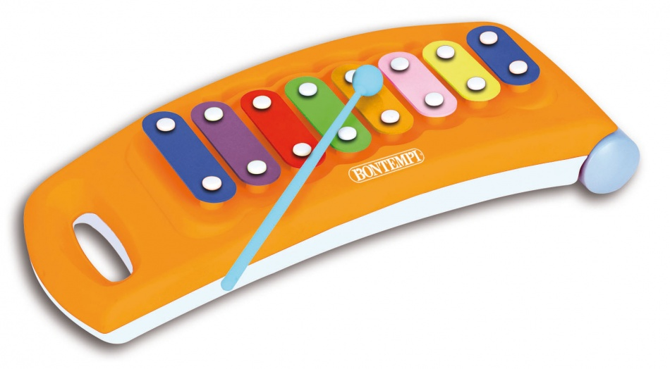 Bontempi Xylofoon Wieltjes Oranje
