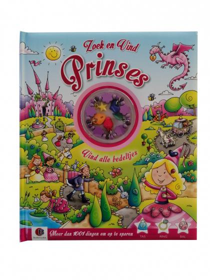 Bookie Lookie hobbyboek Zoek en Vind: prinses papier roze (NL)