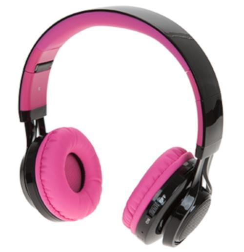 Boom deluxe koptelefoon on ear dancing lights wireless roze