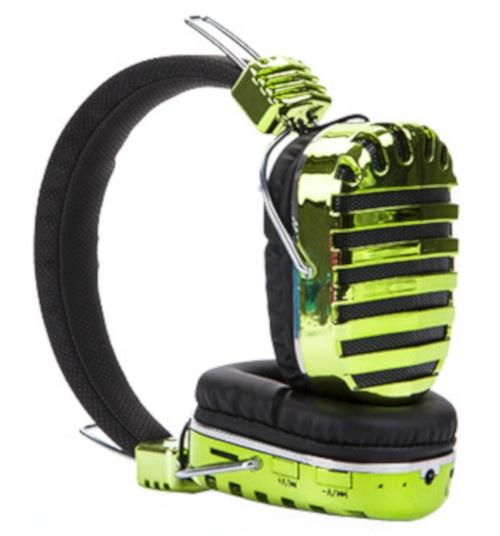 Boom koptelefoon dancing led lights wireless groen