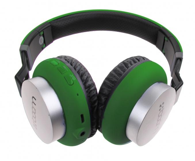 Boom koptelefoon on ear wireless Bluetooth groen