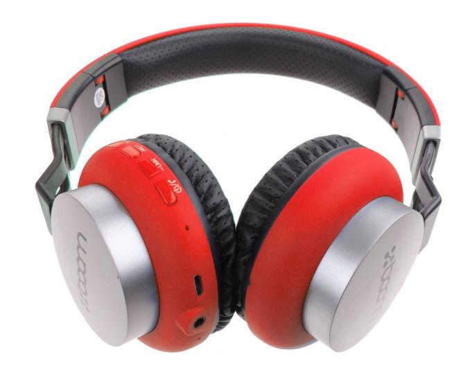 Boom koptelefoon on ear wireless Bluetooth rood