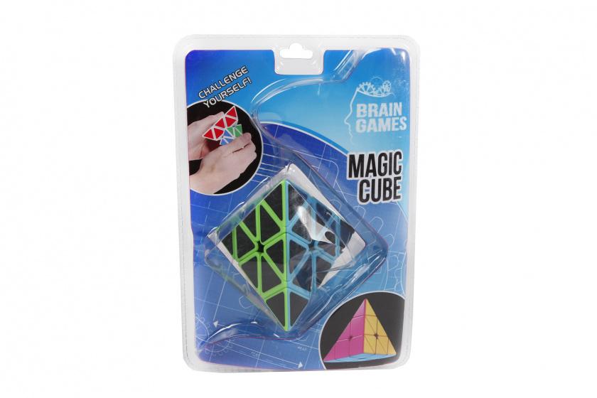 Brain Games puzzelspel Magic Cube pyramide junior 6,5 cm zwart