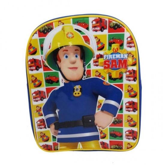 Brandweerman Sam Rugzak 24 x 30 x 9 cm blauw