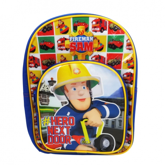 Brandweerman Sam Rugzak Hero Next Door 30 x 32 x 12 cm blauw
