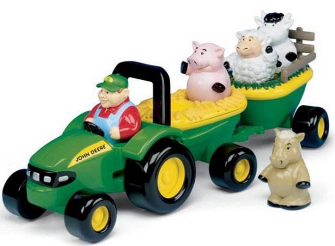 Britains Johnny Muziekale Tractor Met Dieren en Boer (42946)