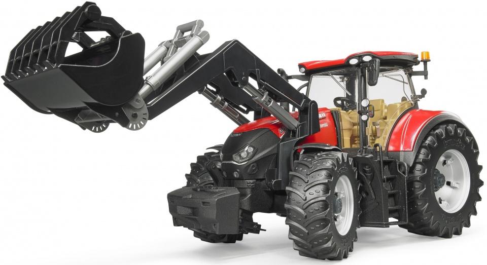 Bruder Case IH Optum 300 CVX tractor met voorlader (03191)