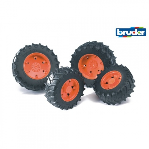 Bruder Dubbele Luchtbanden Voor 3000 Serie: Oranje (03302)