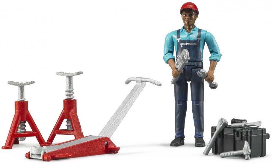 Bruder Garage werker met accessoires