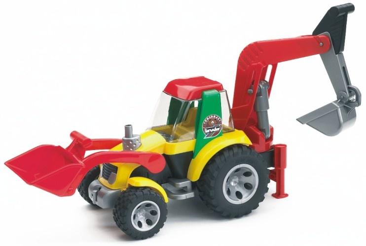 Bruder Roadmax Tractor Met Laadklep en Kraan 58 X 18 cm
