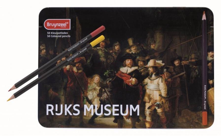 Bruynzeel kleurpotloden Grote Meesters: 50 stuks