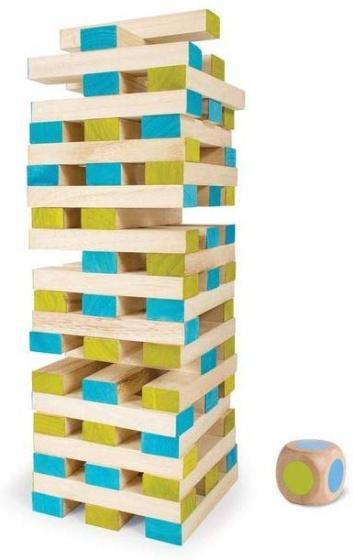 Grote toren Jenga (met dobbelsteen)