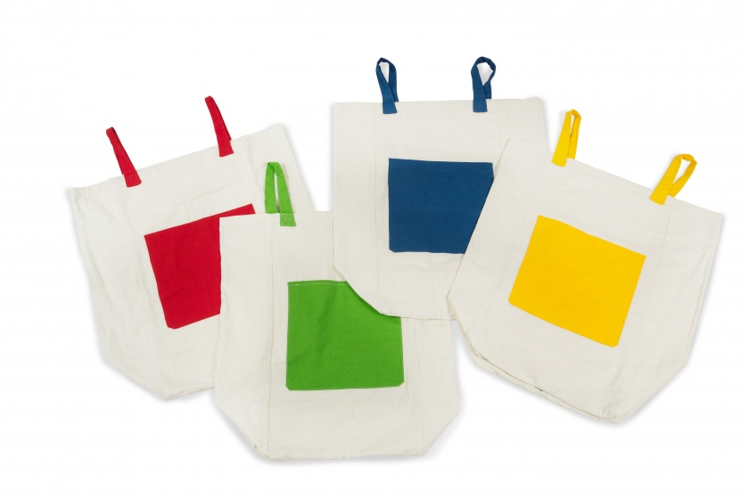 BS Toys loopzakken 37 x 65 cm 4 stuks multicolor