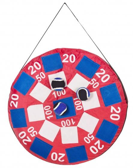 BS Toys opblaasbaar dartbord Velcro Darts 50 cm rood