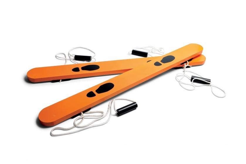 BS Toys wandelski's hout 90 cm oranje 2 stuks
