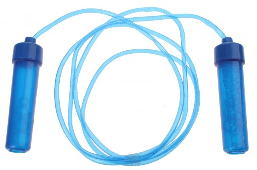 Bubblez springtouw met bellenblaas blauw 110 cm 43 ml