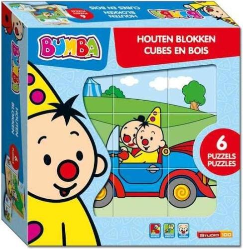 Studio 100 Bumba houten blokpuzzel 9 delig