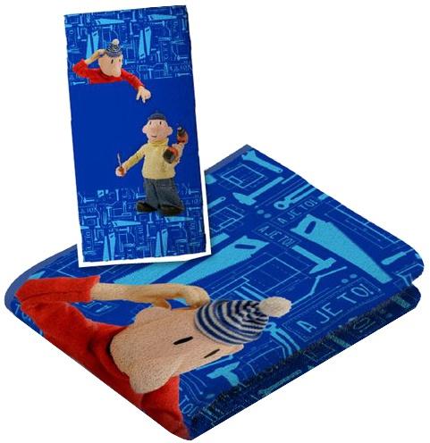 Buurman en Buurman badlaken junior blauw 120 x 60 cm