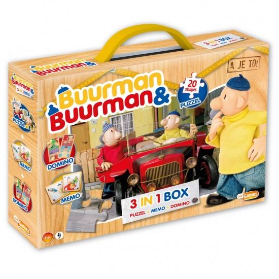 Buurman en Buurman 3 in 1 spelbox: memory, domino, puzzel
