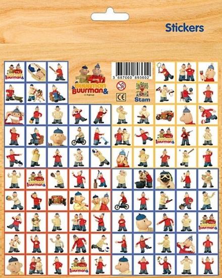Buurman en Buurman stickervel 100 stickers