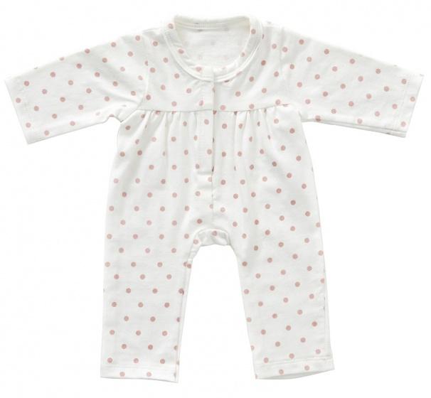 byAstrup onesie voor babypop van 45 cm roze dots