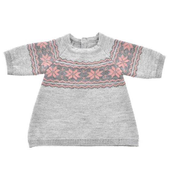 byAstrup poppenkleding trui gebreid 45 cm grijs