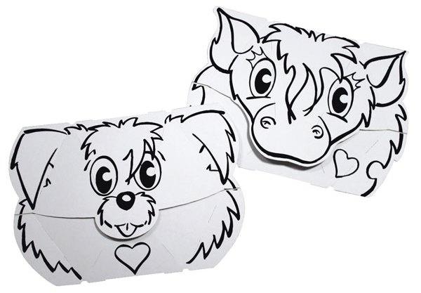Calafant Calalinos masker: Pony en hond 2 stuks